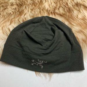 ARC'TERYX Olive Green Beanie Hat Logo